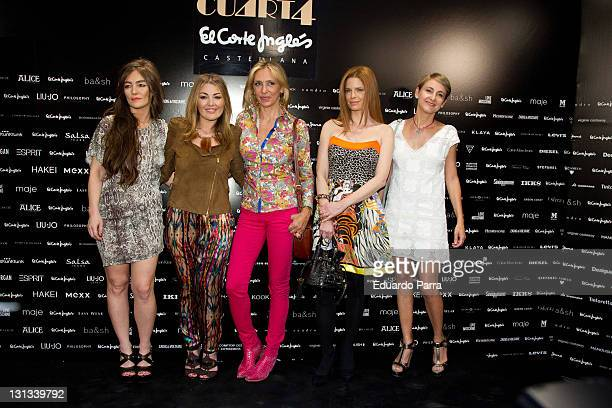 Idoia Montero Amaia Montero Marta Robles Olivia de Bobon and Carla Royo Villanova attend Moda Tendencias photocall at El Corte Ingles store...