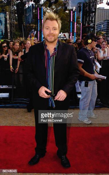 Idol Judge and radio personality Kyle Sandilands arrives for the finale of the 2005 Australian Idol at the Sydney Opera House on November 21 2005 in...