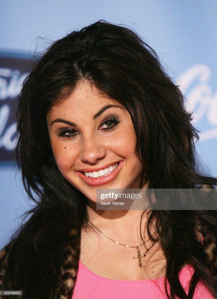 Idol's Mikalah Gordon poses at a party to celebrate the 'American Idol' Top 12 Finalists at Astra West on March 9, 2005 in West Hollywood, California.