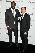 Idris Elba an Warren Brown attend the Harper's Bazaar Women of the Year Awards 2012 in association with Estee Lauder Harrods and Tiffany Co at...