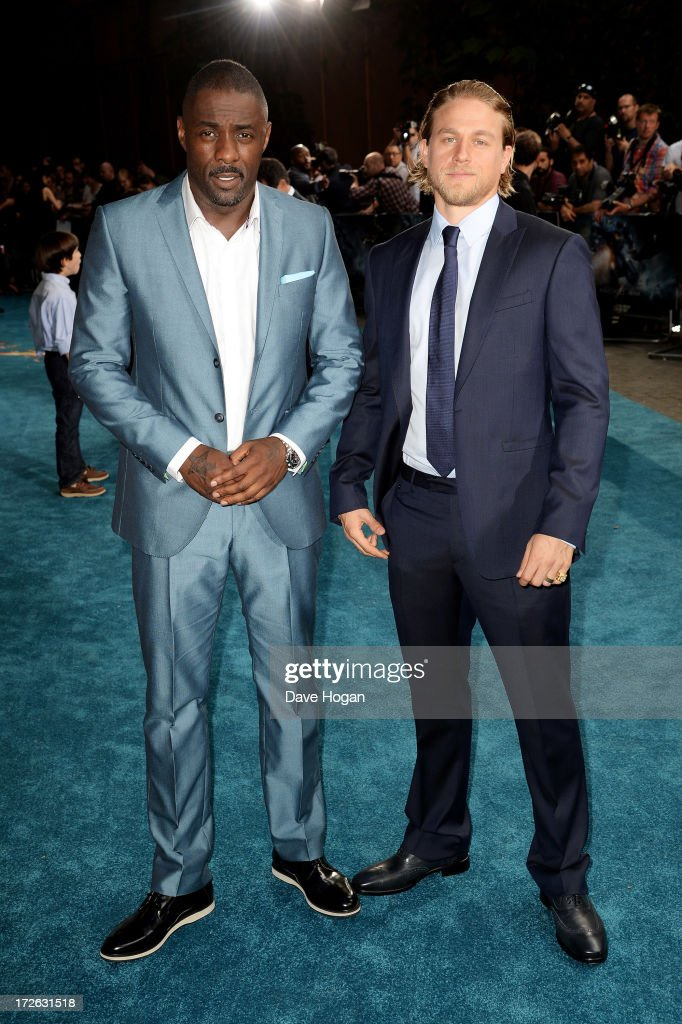 <a gi-track='captionPersonalityLinkClicked' href=/galleries/search?phrase=Idris+Elba&family=editorial&specificpeople=215443 ng-click='$event.stopPropagation()'>Idris Elba</a> and <a gi-track='captionPersonalityLinkClicked' href=/galleries/search?phrase=Charlie+Hunnam&family=editorial&specificpeople=223913 ng-click='$event.stopPropagation()'>Charlie Hunnam</a> attend the European premiere of 'Pacific Rim' at The BFI IMAX on July 4, 2013 in London, England.