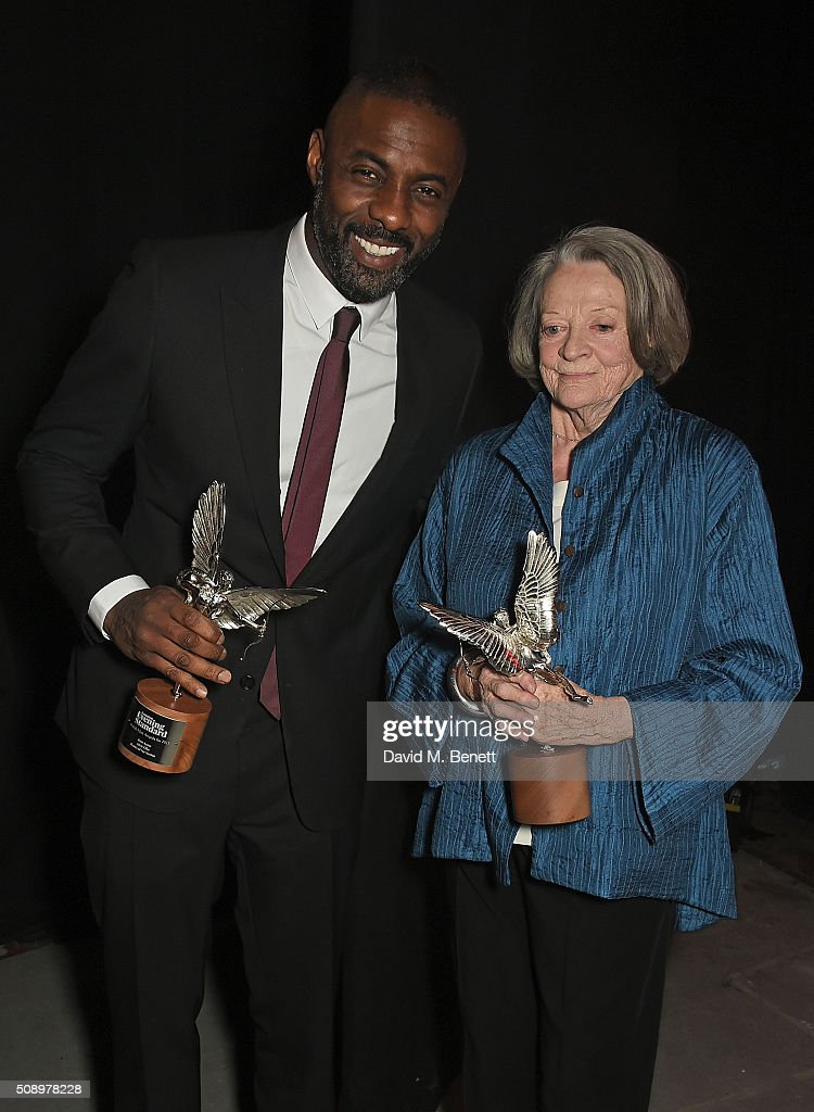 <a gi-track='captionPersonalityLinkClicked' href=/galleries/search?phrase=Idris+Elba&family=editorial&specificpeople=215443 ng-click='$event.stopPropagation()'>Idris Elba</a> and Dame <a gi-track='captionPersonalityLinkClicked' href=/galleries/search?phrase=Maggie+Smith&family=editorial&specificpeople=206821 ng-click='$event.stopPropagation()'>Maggie Smith</a> attend the London Evening Standard British Film Awards at Television Centre on February 7, 2016 in London, England.