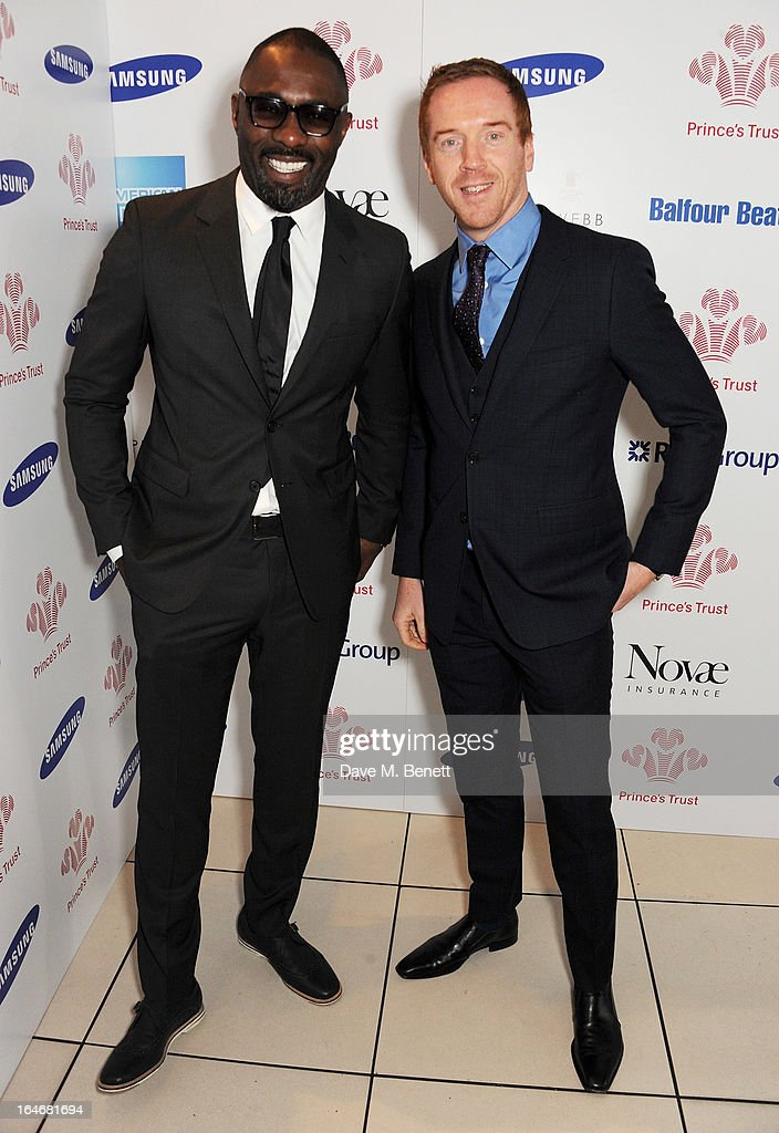 Idris Elba (L) and Damian Lewis attend The Prince's Trust & Samsung Celebrate Success Awards at Odeon Leicester Square on March 26, 2013 in London, England.