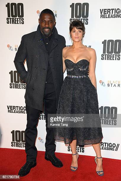 Idris Elba and Gemma Arterton attend the UK premiere of '100 Streets' on November 8 2016 at BFI Southbank in London United Kingdom