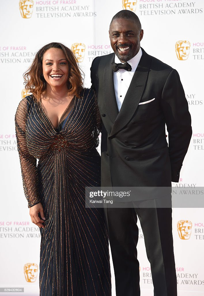 Idris Elba and Naiyana Garth arrive for the House Of Fraser British Academy Television Awards 2016 at the Royal Festival Hall on May 8, 2016 in London, England.