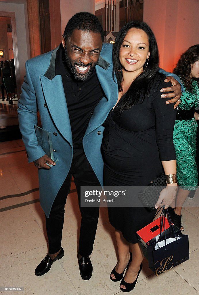 Idris Elba (L) and Naiyana Garth attend the Harper's Bazaar Women of the Year awards at Claridge's Hotel on November 5, 2013 in London, England.