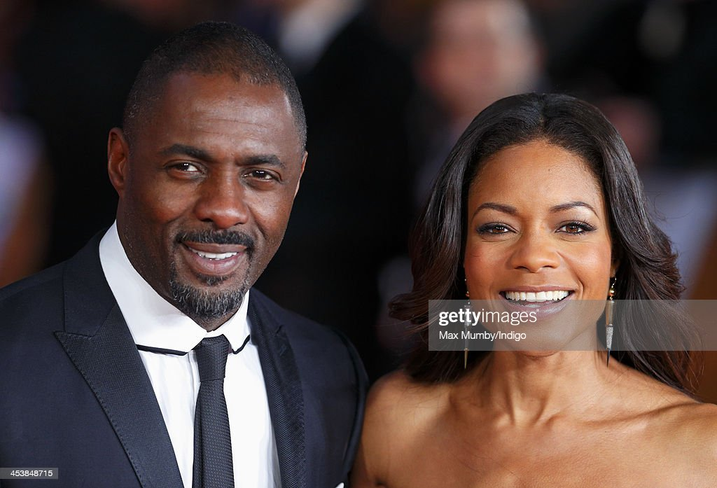 Idris Elba and Naomie Harris attend the Royal film performance of 'Mandela: Long Walk to Freedom' at Odeon Leicester Square on December 5, 2013 in London, England.