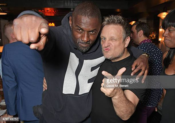 Idris Elba and Rankin attend the official Idris Elba Superdry presentation at LCM at Hix on June 11 2015 in London England