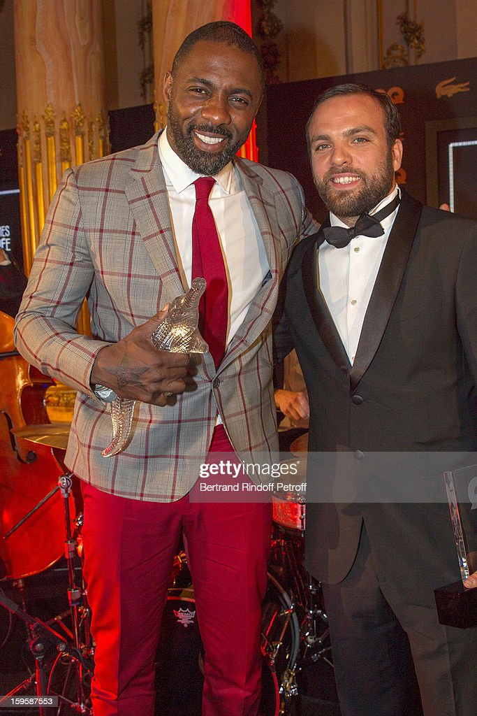 Idris Elba (L) and Sami Ameziane aka Comte de Bouderbala, attend the GQ Men of the year awards 2012 at Musee d'Orsay on January 16, 2013 in Paris, France.