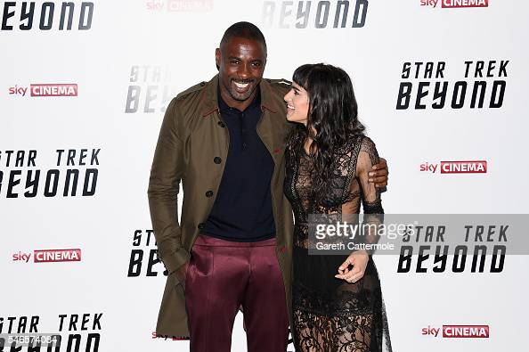 Idris Elba and Sofia Boutella attend the UK Premiere of Paramount Pictures 'Star Trek Beyond' at the Empire Leicester Square on July 12 2016 in...