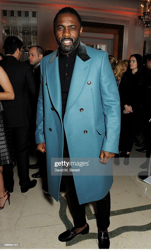 Idris Elba arrives at the Harper's Bazaar Women of the Year awards at Claridge's Hotel on November 5, 2013 in London, England.