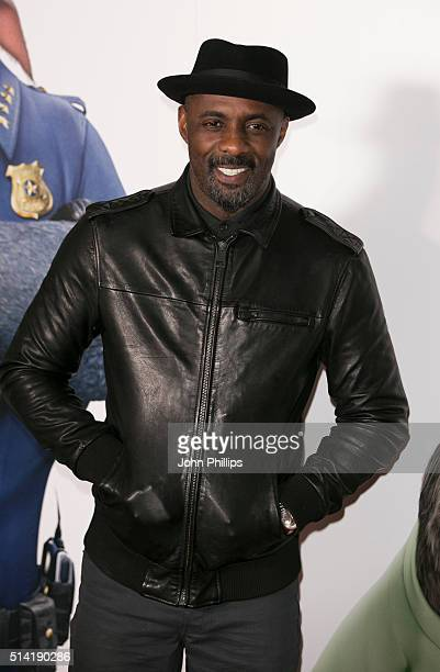 Idris Elba arrives for the UK Gala Screening of 'Zootropolis' at Hackney Picturehouse on March 7 2016 in London England