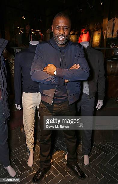 Idris Elba at Superdry Regent Street to celebrate the launch of the new premium menswear AW15 'Idris Elba Superdry' collection on November 26 2015 in...