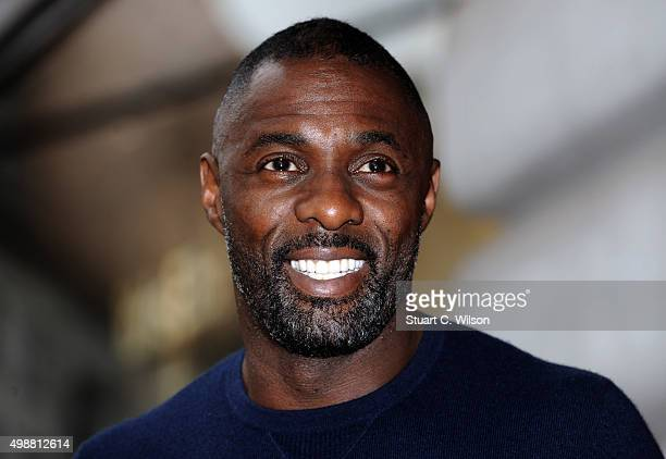 Idris Elba attends a photocall to launch the Superdry AW15 Premium Menswear collection at Superdry International Showroom on November 26 2015 in...