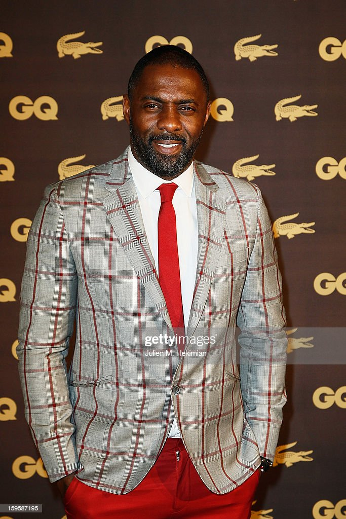 Idris Elba attends GQ Men of the year awards 2012 at Musee d'Orsay on January 16, 2013 in Paris, France.