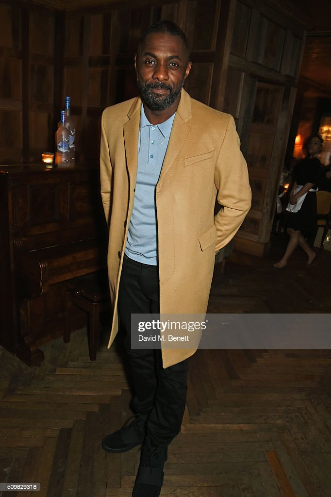 <a gi-track='captionPersonalityLinkClicked' href=/galleries/search?phrase=Idris+Elba&family=editorial&specificpeople=215443 ng-click='$event.stopPropagation()'>Idris Elba</a> attends Harvey Weinstein's pre-BAFTA dinner in partnership with Burberry and GREY GOOSE at Little House Mayfair on February 12, 2016 in London, England.