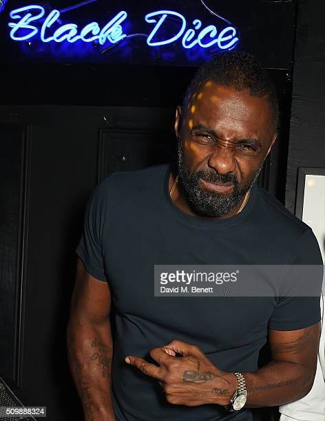Idris Elba attends his preBAFTA party at Black Dice on February 12 2016 in London England
