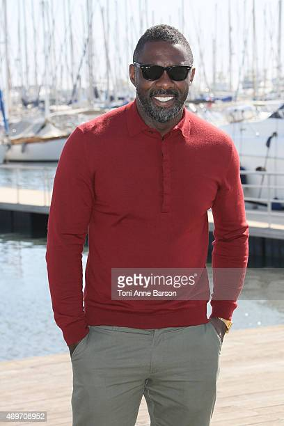 Idris Elba attends Mandela My Dad And Me photocall as part of MIPTV 2015 on April 14 2015 in Cannes France