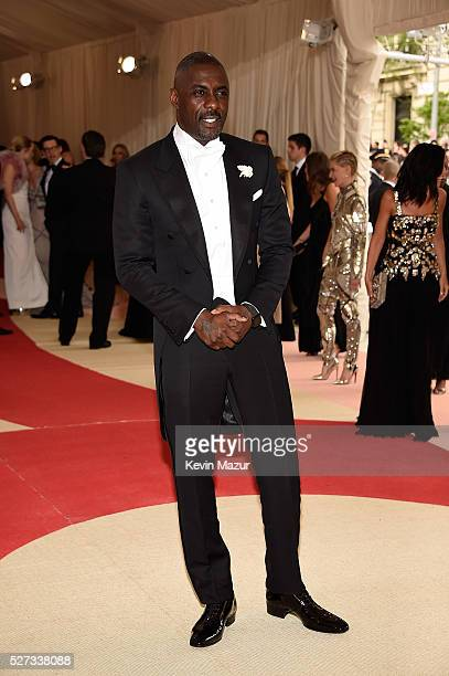 Idris Elba attends 'Manus x Machina Fashion In An Age Of Technology' Costume Institute Gala at Metropolitan Museum of Art on May 2 2016 in New York...