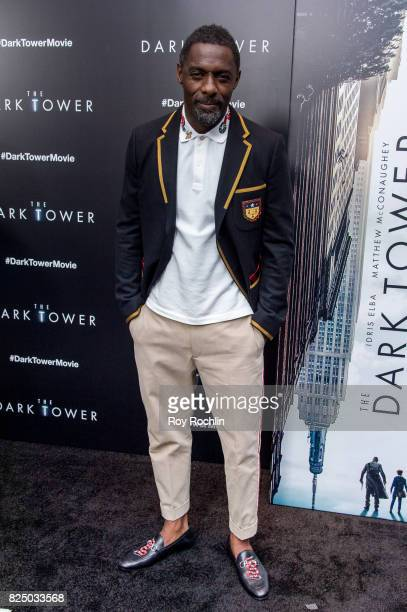 Idris Elba attends 'The Dark Tower' New York premiere on July 31 2017 in New York City