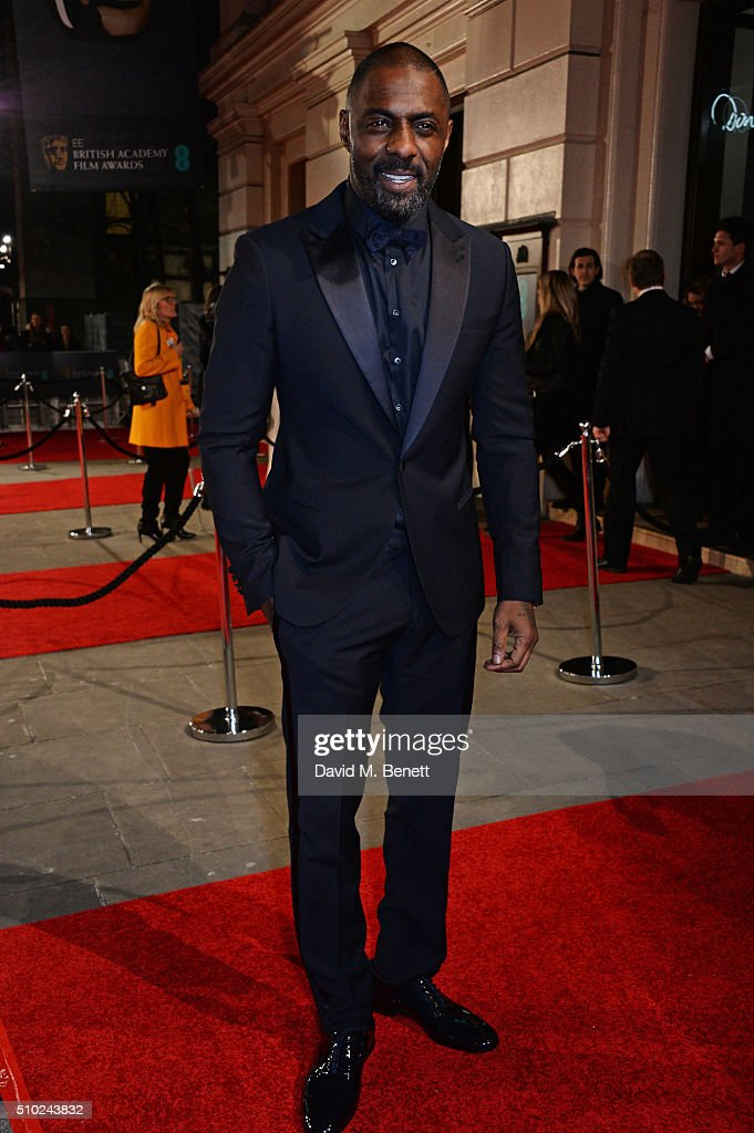 <a gi-track='captionPersonalityLinkClicked' href=/galleries/search?phrase=Idris+Elba&family=editorial&specificpeople=215443 ng-click='$event.stopPropagation()'>Idris Elba</a> attends the EE British Academy Film Awards at The Royal Opera House on February 14, 2016 in London, England.