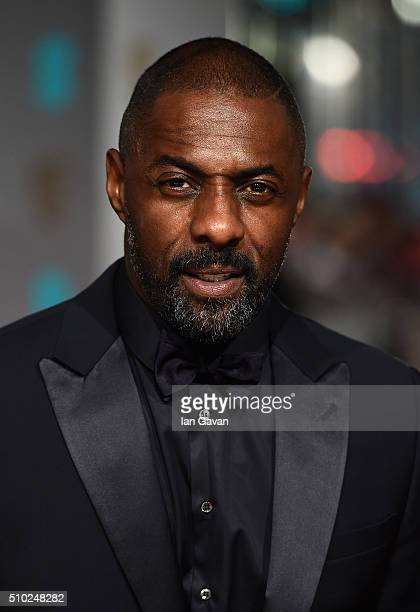 Idris Elba attends the EE British Academy Film Awards at the Royal Opera House on February 14 2016 in London England