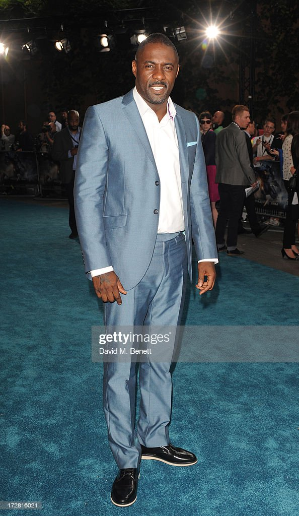 <a gi-track='captionPersonalityLinkClicked' href=/galleries/search?phrase=Idris+Elba&family=editorial&specificpeople=215443 ng-click='$event.stopPropagation()'>Idris Elba</a> attends the European Premiere of 'Pacific Rim' at BFI IMAX on July 4, 2013 in London, England.