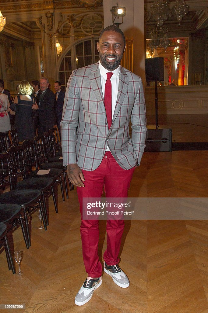 Idris Elba attends the GQ Men of the year awards 2012 at Musee d'Orsay on January 16, 2013 in Paris, France.