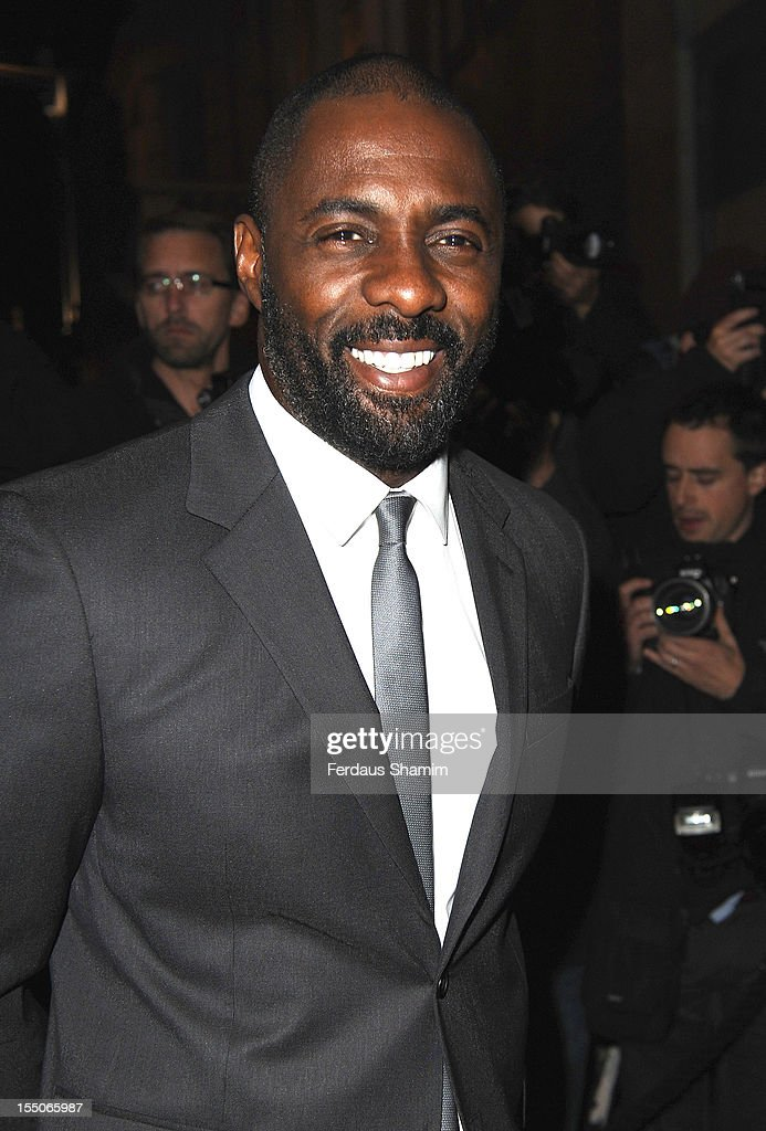 Idris Elba attends the Harper's Bazaar Woman of the Year Awards at Claridge's Hotel on October 31, 2012 in London, England.