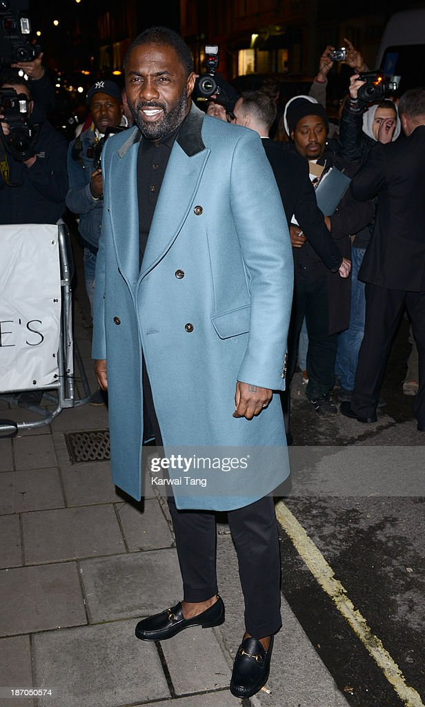Idris Elba attends the Harpers Bazaar Women of the Year Awards at Claridge's Hotel on November 5, 2013 in London, England.