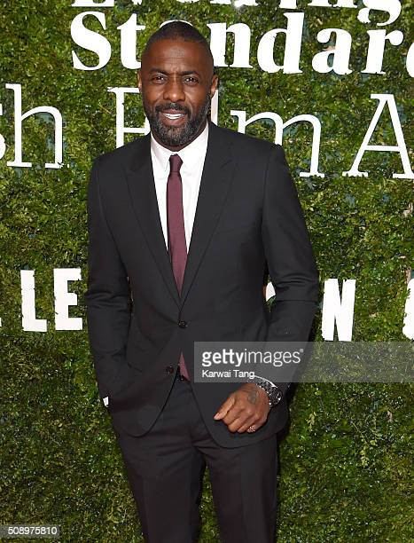 Idris Elba attends the London Evening Standard British Film Awards at Television Centre on February 7 2016 in London England