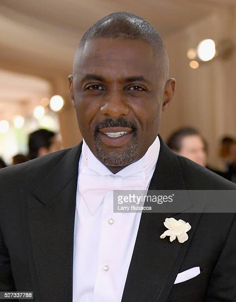 Idris Elba attends the 'Manus x Machina Fashion In An Age Of Technology' Costume Institute Gala at Metropolitan Museum of Art on May 2 2016 in New...