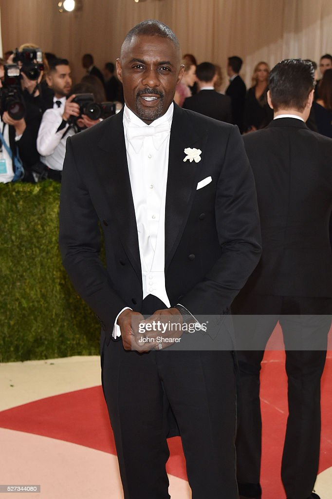 Idris Elba attends the 'Manus x Machina: Fashion In An Age Of Technology' Costume Institute Gala at Metropolitan Museum of Art on May 2, 2016 in New York City.