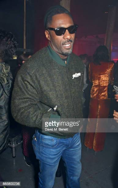 Idris Elba attends the OffWhite x Dazed Fashion Awards after party at RUIN 180 The Strand on December 4 2017 in London England