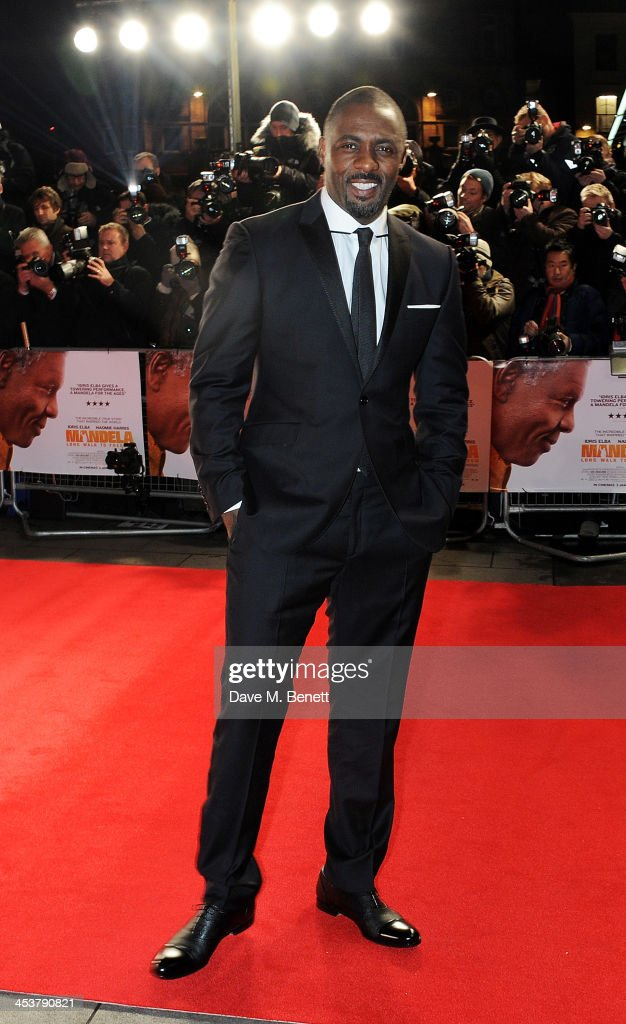 <a gi-track='captionPersonalityLinkClicked' href=/galleries/search?phrase=Idris+Elba&family=editorial&specificpeople=215443 ng-click='$event.stopPropagation()'>Idris Elba</a> attends the Royal Film Performance of 'Mandela: Long Walk to Freedom' at Odeon Leicester Square on December 5, 2013 in London, United Kingdom.