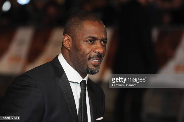 Idris Elba attends the Royal film performance of 'Mandela Long Walk To Freedom' at Odeon Leicester Square on December 5 2013 in London United Kingdom