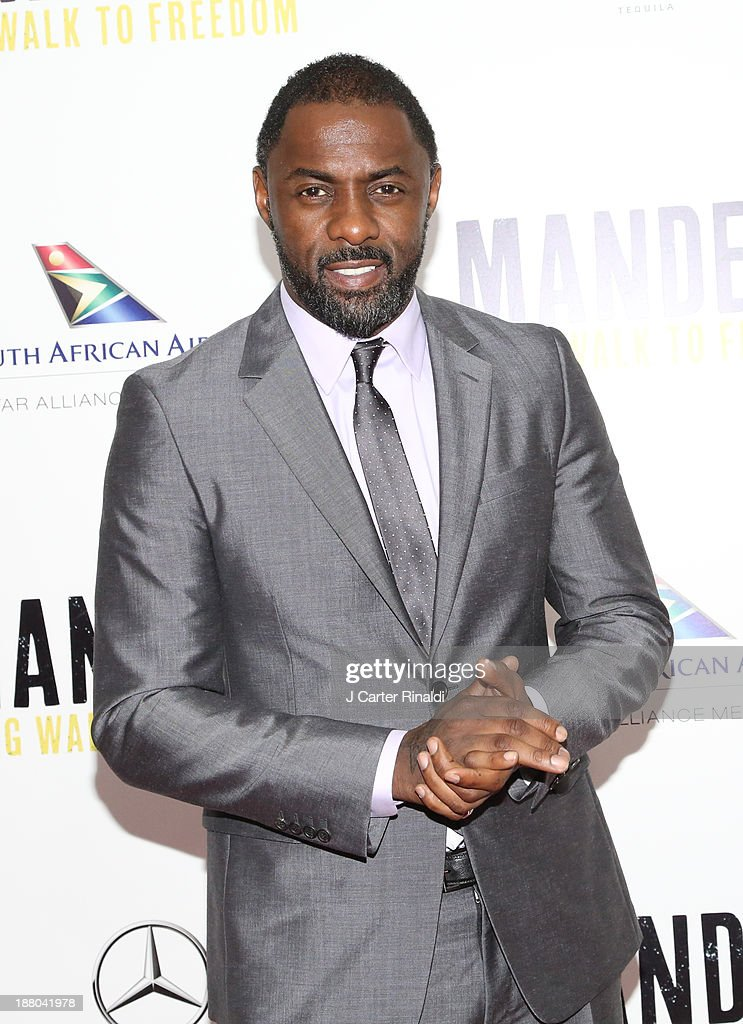 <a gi-track='captionPersonalityLinkClicked' href=/galleries/search?phrase=Idris+Elba&family=editorial&specificpeople=215443 ng-click='$event.stopPropagation()'>Idris Elba</a> attends the screening of 'Mandela: Long Walk to Freedom' hosted by The Weinstein Company, Yucaipa Films & Videovision Entertainment, supported by Mercedes-Benz, South African Airways & DeLeon Tequila at Alice Tully Hall, Lincoln Center on November 14, 2013 in New York City.
