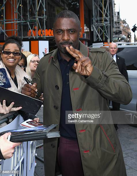 Idris Elba attends the UK Premiere of Paramount Pictures 'Star Trek Beyond' at the Empire Leicester Square on July 12 2016 in London England