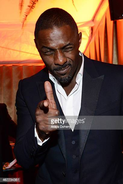 Idris Elba attends The Weinstein Company Netflix's 2014 Golden Globes After Party presented by Bombardier FIJI Water Lexus Laura Mercier Marie Claire...
