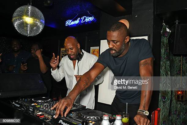 Idris Elba DJs at his preBAFTA party at Black Dice on February 12 2016 in London England