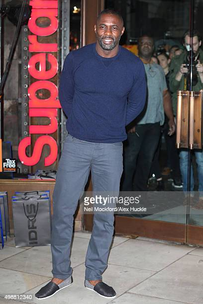 Idris Elba seen at Superdry on Regent St to launch his new fashion collection on November 26 2015 in London England