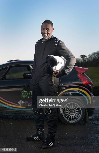 Idris Elba takes part in the ERC Circuit of Ireland Rally Test Session on February 19 2015 in Aughnacloy United Kingdom The actor with guidance from...