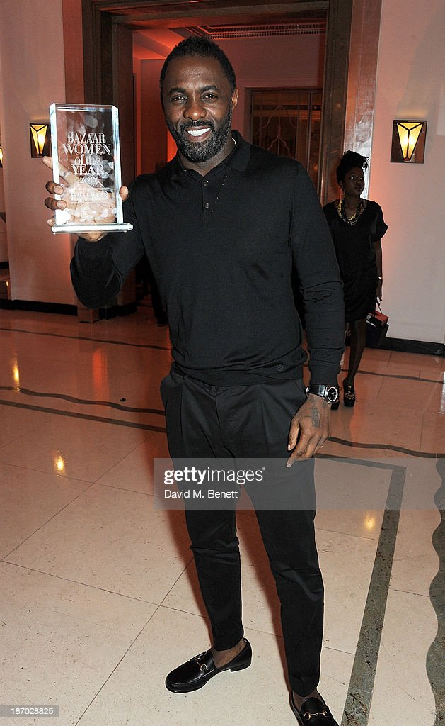 Idris Elba, winner of the Man of the Year award, attends the Harper's Bazaar Women of the Year awards at Claridge's Hotel on November 5, 2013 in London, England.