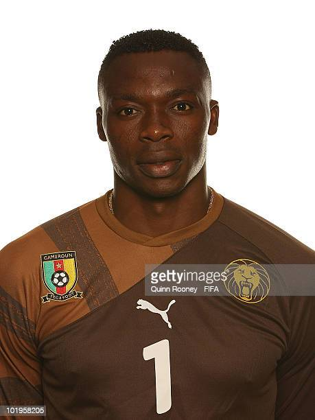 Idris Kameni of Cameroon poses during the official FIFA World Cup 2010 portrait session on June 10 2010 in Durban South Africa