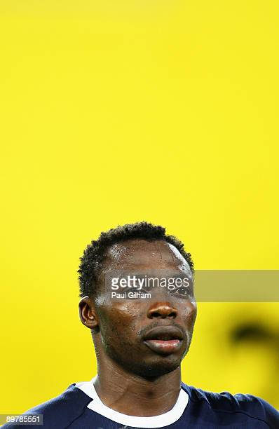 Idriss Carlos Kameni of Cameroon looks on during the Cameroon national anthem prior to the International Friendly match between Austria and Cameroon...