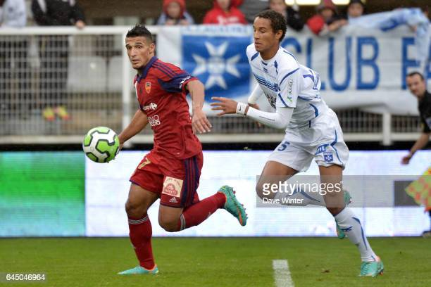 Idriss SAADI / Christopher JULLIEN Auxerre / Ajaccio 13e journee de Ligue 2 Photo Dave Winter / Icon Sport