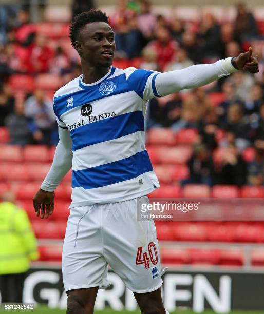 Idriss Sylla of QPR celebrates scoring the opening goal during the Sky Bet Championship match between Sunderland and Queens Park Rangers at Stadium...