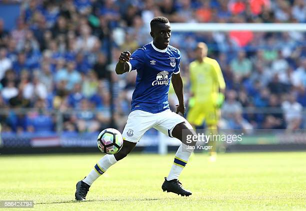 Idrissa Gana Gueye of Everton in action during the preseason friendly match between Everton and Espanyol at Goodison Park on August 6 2016 in...