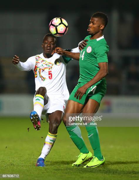Idrissa Gana Gueye of Senegal and Kelechi Iheanacho of Nigeria during the International Friendly match between Nigeria and Senegal at The Hive on...