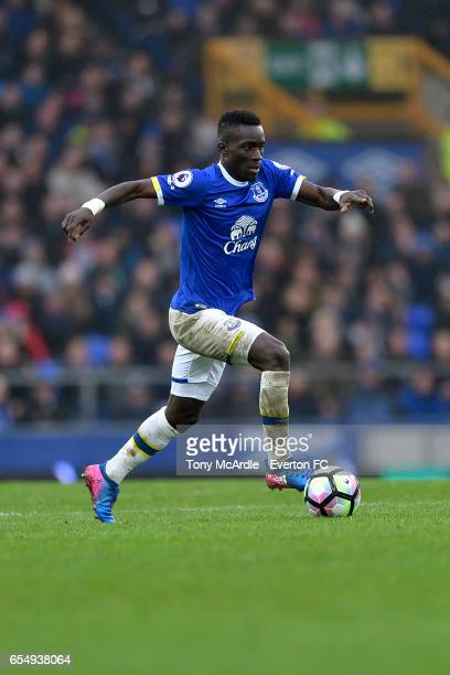 Idrissa Gueye during the Premier League match between Everton and Hull City at the Goodison Park on March 18 2017 in Liverpool England